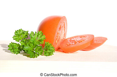 isolated photo of fesh tomato. healthy food.
