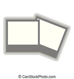 Isolated photos symbol on white background