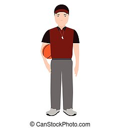 Isolated physical education teacher avatar