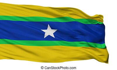 Isolated Piar city flag, Venezuela - Piar flag, city of...