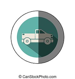 Isolated pick up vehicle icon vector illustration graphic...