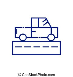 Isolated pickup car vehicle and street vector design
