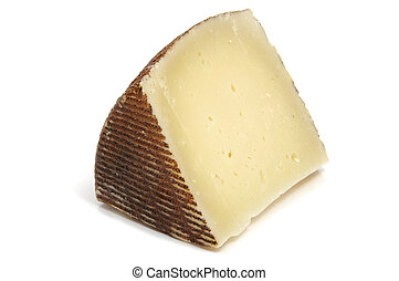 manchego cheese - isolated piece of manchego cheese isolated...
