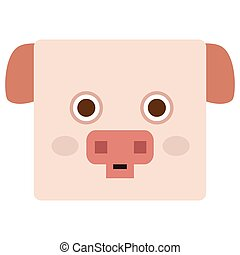 Isolated pig face