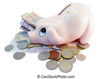 Piggy bank money box with different