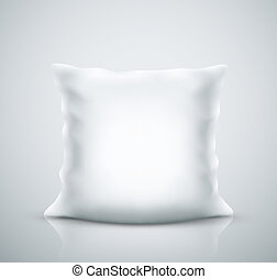 Isolated white pillow, eps 10