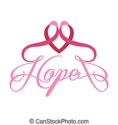 Isolated pink ribbon. Breast cancer campaign