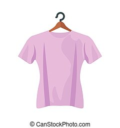 pink tshirt design, Cloth fashion style wear and store theme Vector illustration