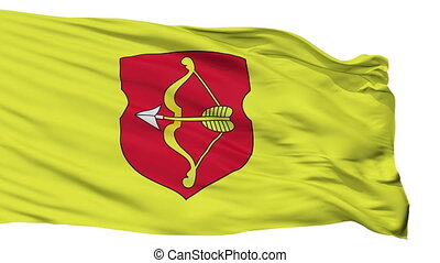 Isolated Pinsk city flag, Belarus - Pinsk flag, city of...