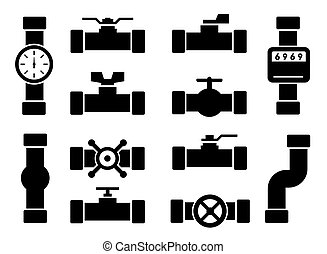 isolated pipes icons