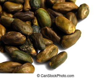isolated pistachio kernels