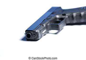 Isolated pistol. Shallow DOF.