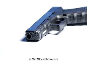 Isolated pistol. Shallow DOF.