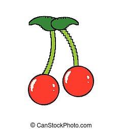 Isolated pixelated cherry icon