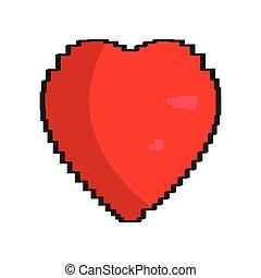 Isolated pixelated heart icon