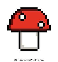 Isolated pixelated mushroom icon