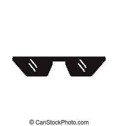 Isolated pixelated sunglasses icon