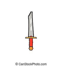 Isolated pixelated sword icon