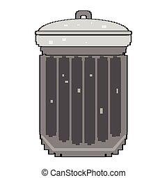 Isolated pixelated trashcan - Pixelated trashcan isolated on...