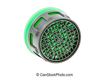 Isolated plastic faucet aerator - Isolated faucet aerator...