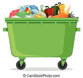 Isolated plastic garbage containe
