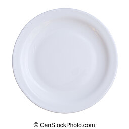 isolated plate - empty plate isolated on a white background