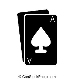 Isolated poker card design