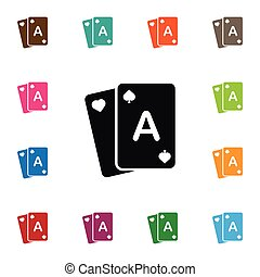 Isolated Poker Icon. Gamble Vector Element Can Be Used For Poker, Gamble, Casino Design Concept.