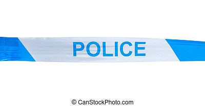 Isolated Police Tape - Isolated Police Warning Tape On A...
