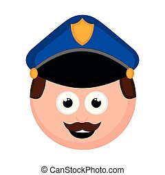 Isolated policeman avatar cartoon