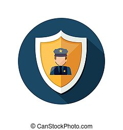 Isolated policeman design