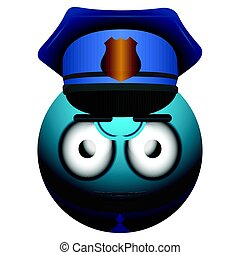 Isolated policeman emote