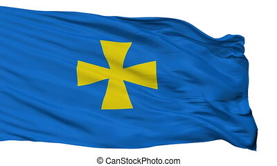 Isolated Poltava Oblast flag, Ukraine - Poltava Oblast flag,...