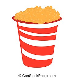 Isolated pop corn on a white background, Vector illustration