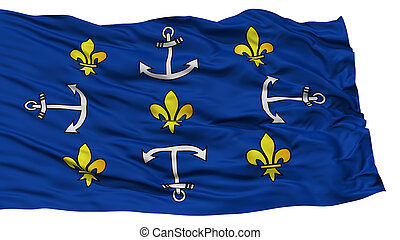 Isolated Port Louis City Flag, Capital City of Mauritius, ...