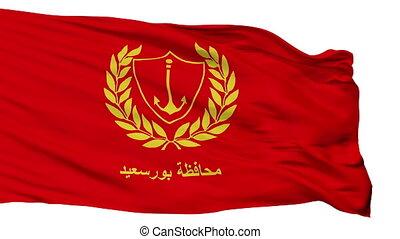 Isolated Port Said city flag, Egypt - Port Said flag, city...
