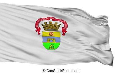 Isolated Porto Alegre city flag, Brasil - Porto Alegre flag,...