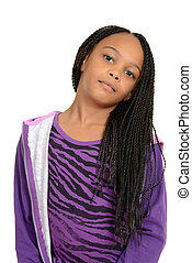 Portrait cute south african child - isolated Portrait cute ...