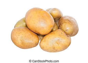 Isolated potato on white
