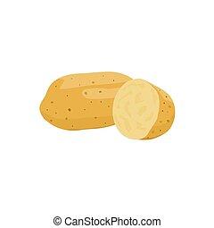 Isolated Potato vector design on White background