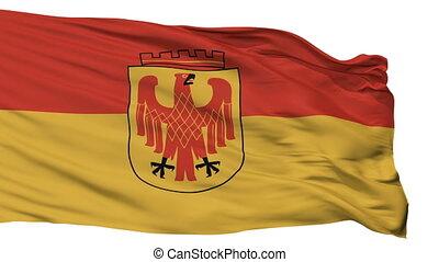 Isolated Potsdam city flag, Germany - Potsdam flag, city of...