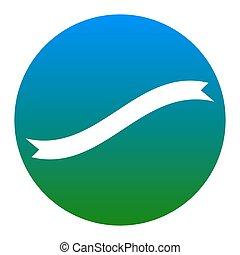 isolated., poznaczcie., niebieskawy, tło., vector., biały, chorągiew, koło, wstążka, ikona