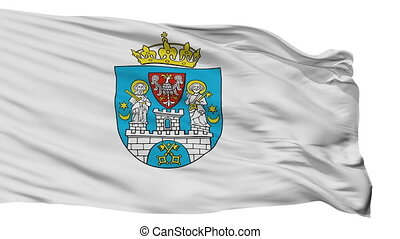 Isolated Poznan city flag, Poland - Poznan flag, city of...