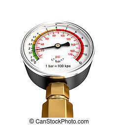 isolated pressure gauge 3d