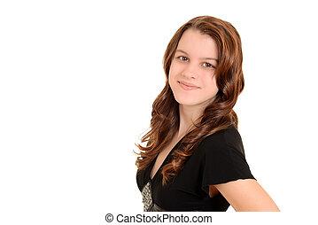 pretty teen girl portrait