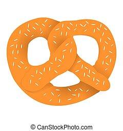Isolated pretzel icon