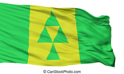 Isolated Prince Albert city flag, Canada - Prince Albert...
