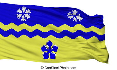 Isolated Prince George city flag, Canada - Prince George...