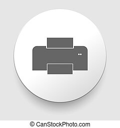 Isolated print icon on white background.