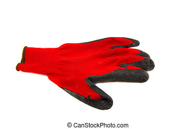 isolated protective glove - isolated on white background one...